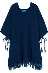 Mih Jeans Malaquite Cotton Blend Hooded Poncho