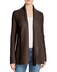 Bloomingdale's C By Shawl Collar Cashmere Cardigan Heather Brown