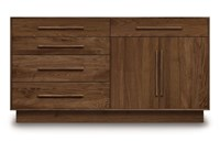 Copeland Furniture Moduluxe 35 Inch 4 Drawer On Left 1 Drawer Over 2 Door On Right Dresser