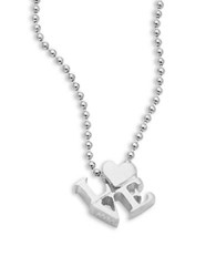 Alex Woo Sterling Silver Love Icon Necklace