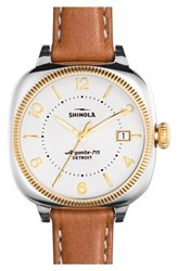 Women's Shinola 'Gomelsky' Square Leather Strap Watch 36Mm