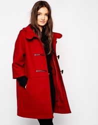Sisley Ovoid Duffle Coat Red