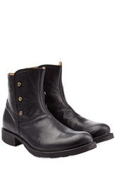 Fiorentini And Baker Button Detailed Leather Ankle Boots