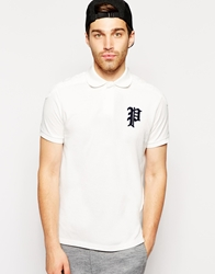 Polo Ralph Lauren Polo With Gothic Applique White