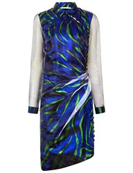 Marco De Vincenzo Green And Blue Printed Dress