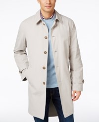 Tommy Hilfiger Men's Finn Solid Raincoat Stone