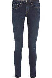 Rag And Bone Low Rise Skinny Jeans Dark Denim