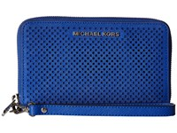Michael Michael Kors Jet Set Travel Large Flat Mf Phone Case Electric Blue Cell Phone Case