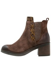 Mjus Ankle Boots Cacao Tan Light Grey