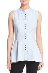 Derek Lam Women's 10 Crosby Peplum Hem Cotton Poplin Shirt Oxford