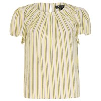 Cutie Striped Pleated Top Yellow