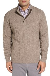 Peter Millar Men's Cable Knit Wool Blend Quarter Zip Sweater