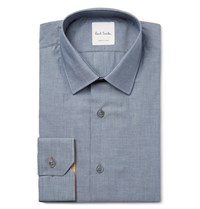 Paul Smith Blue Soho Slim Fit Cotton Chambray Shirt Blue