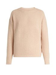 Vince Wool Blend Crew Neck Sweater Light Pink