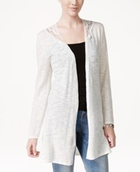 Styleandco. Style And Co. Lace Trim Long Cardigan Only At Macy's