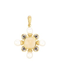 Jude Frances Pearl And Diamond Checkerboard Pendant