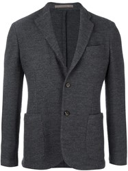 Eleventy Patch Pockets Blazer Grey