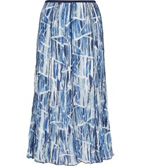 Cc Waves Print Crinkle Skirt Blue