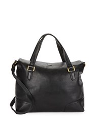 Frye Claude Leather Satchel Black