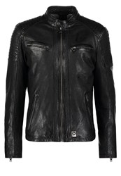 Oakwood Bobby Leather Jacket Noir Black