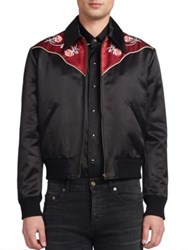 Saint Laurent Western Bomber Jacket Black