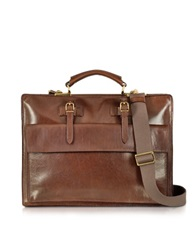The Bridge Story Uomo Brown Leather Briefcase