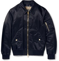 Burberry Lim Fit Hell Bomber Jacket Navy