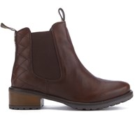 Barbour Women's Latimer Leather Chelsea Boots Chestnut