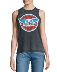 Chaser Band Logo Graphic Tank Black