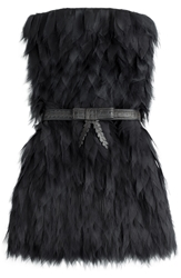 Fendi Bandeau Dress With Silver Fox