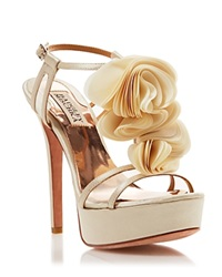 Badgley Mischka Open Toe Platform Sandals Flora High Heel