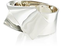 Proenza Schouler Women's Thick Ribbon Bangle Silver