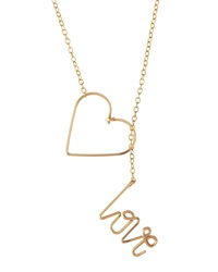 By Philippe 14 Karat Gold Fill Heart And Love Toggle Necklace