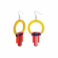 Toolally Art Deco Chandeliers Citrus Red Blue Yellow