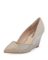 Neiman Marcus Mara Mixed Media Pointy Wedge Dove