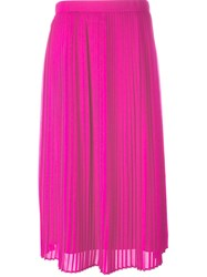 Kenzo Pleated Skirt Pink And Purple