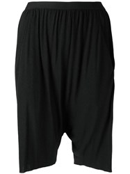 Rick Owens Lilies Drop Crotch Shorts Black