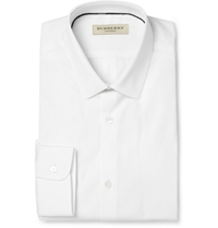 Burberry White Slim Fit Cotton Shirt