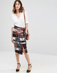 Warehouse Leaf Print Skirt Multi