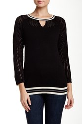 Democracy Perforated Sweater Black