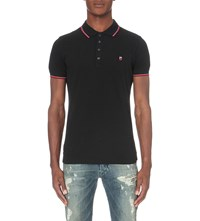 Diesel T Skin Polo Shirt Black