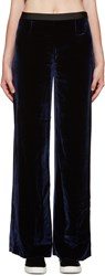 Alexander Wang Navy Velvet Lounge Pants