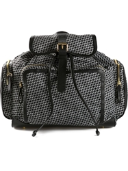 Pierre Hardy Geometric Print Backpack Black