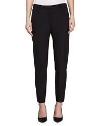 Halston Skinny Suiting Pants Black