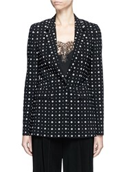 Givenchy Mix Floral Print Blazer Black