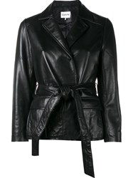 Ganni 'Passion' Wrap Jacket Black