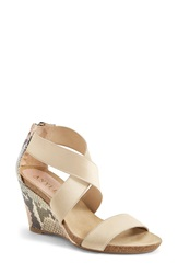 Anyi Lu 'Cristina' Wedge Sandal Women Rose Pitone