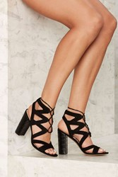 Sam Edelman Yardley Suede Heel Black