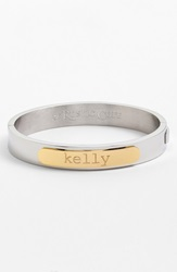 Rustic Cuff Personalized Bangle Bracelet Silver Gold