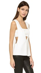 Alexander Wang Low V Bandeau Tank Off White